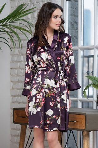 Запашной короткий халат Mia-Amore 3523